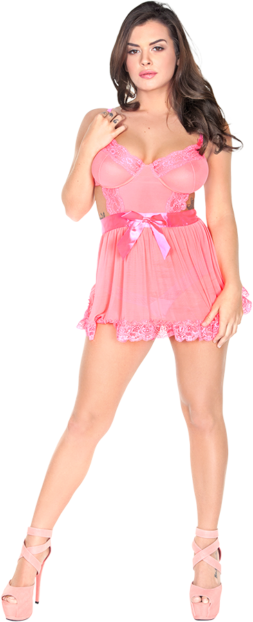 Keisha Grey Lovely In Pink istripper model