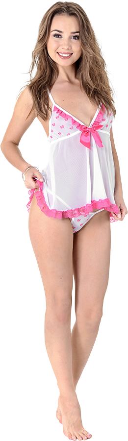 Linda Elisson Nightie Night istripper model
