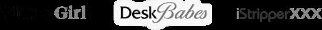 VirtuaGirl DeskBabes iStripperXXX logos